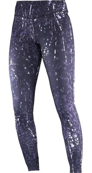 Salomon W's Elevate Long Tight Pant Nightshade Grey